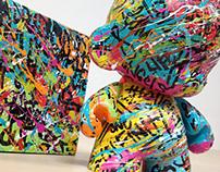 "Custom 7"" Graffiti Munny & Canvas Set"