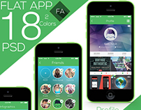 Flat app Ui Full Project Free Download