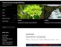Twenty Fourteen Demo Setup Sample XML Data