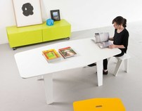 Jig Dining Table and Stools