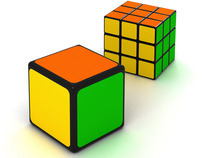 The facilitated version of Rubik's Cube.