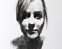 Charcoal Portrait Studies