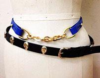 Studded and adjustable belts