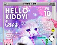 HELLO KITTY PARTY Flyer (BKK)
