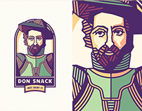 "Mascot concepts for ""Don Snack"""