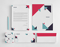 Business Geometric Stationery