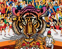 Tigers Mascot artwork