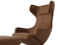 Free 3d model: Grand Repose Lounge Chair by Vitra