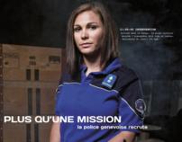 """Plus qu'une Mission"" Ad campaign - Geneva State Police"