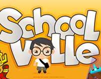 Schoolville design development and character  design