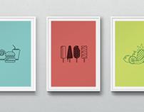 Food Icon Set for Pixeden