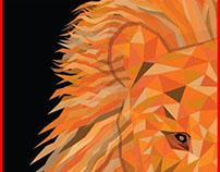Geometric Animal Project - Lion 01