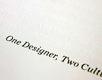 One Designer, Two Cultures
