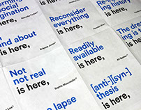 RISD 2014 Graphic Design Exhibition takeaway