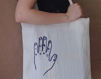 Hand-Embroidered Hand Tote