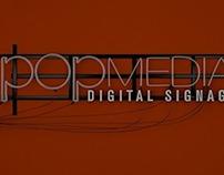 popmedia neon logo