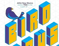 AIGA NM Annual Birdhouse Poster
