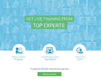 E- Learning Portal Landing Page