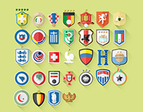 Fifa World Cup 2014 / Flat Shields and Jerseys