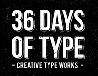 36 Days of Type / Creative type works