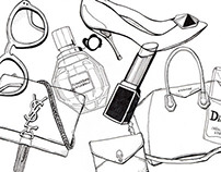 Fashion Accessory Drawings
