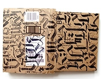 Calligraffiti on Old Boxes and Envelops