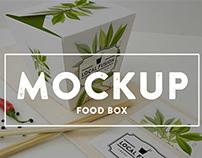 Food Box Branding Mockup