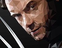wolverine x-men - Low Poly Illustration