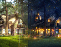 The FireFly Cottage - 3dsmax Vray PhotoshoP