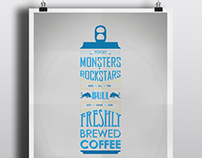 Hale Coffee Co. Typographic Posters