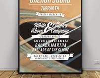 Balada Typography Flyer