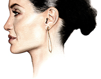 Hollywood Female Stars Portraits in profile