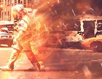 Astronaut on Fire