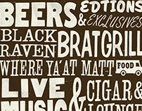 Black Raven Vintage Typography Poster
