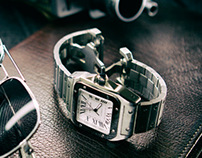 """Cartier """"Watch with Sunglasses and 16mm camera"""