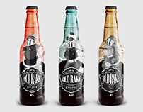 Old Rake beer packaging design