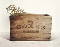 Vintage Boxes Mock-up PSD Freebie