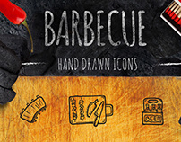 BBQ - 65 Hand-drawn icons