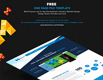 One Page Versatile PSD Temaplate - Free