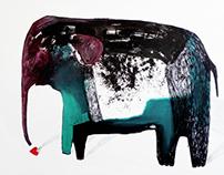 Big Animals - canvas, 90x70 cm. (+ a little more)