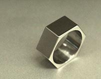 Hex Nut Titanium Ring