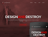 Design and Destroy responsive website
