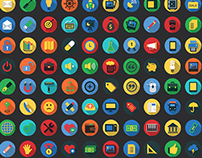 1,600 Flat Icons - Colorful Icons Set (Web) | FlatIcon