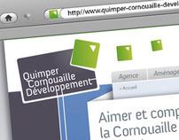 Quimper Cornouaille Developpement Web site