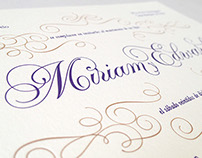 Wedding Invitation - Miriam & Edward