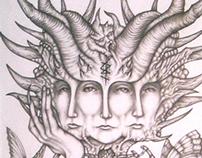 Fantastic & Literary Art - Drawings 2002 - 2005.
