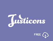 Justicons – 140 Free Stroke Icons