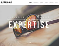 Gedebvge - Responsive One Page Portfolio Theme