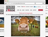 Spring Meadows Farm, Redesign Website