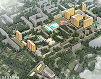 "Visualization residential complex  ""Vluberzi"""